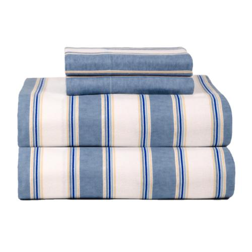 Celeste Home Ultra Soft Blue Stripe Flannel Sheet Set Flannel King Blue Stripe sheet set