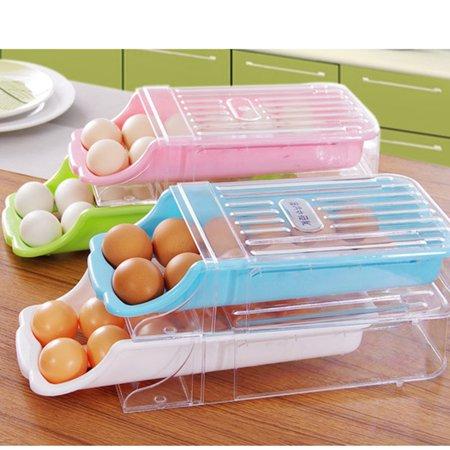 Kitchen Home Refrigerator Storage Plastic Drawer Type Egg Holder Box Container Dispenser Case Blue (Dispenser Humidity Controlled Crisper Drawer)