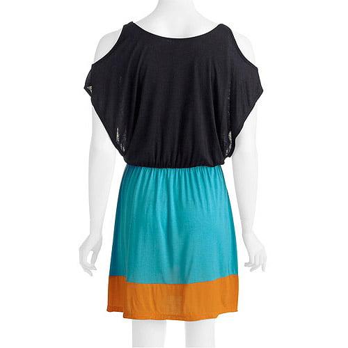 Women's Cold Shoulder Draped Dress