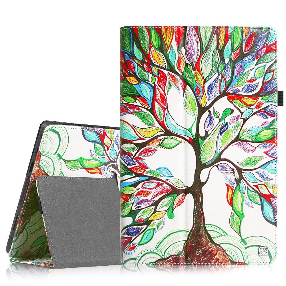 Fintie Microsoft Surface RT / Surface 2 10.6 inch Tablet Folio Case - Slim Fit PU Leather Stand Cover, Love Tree
