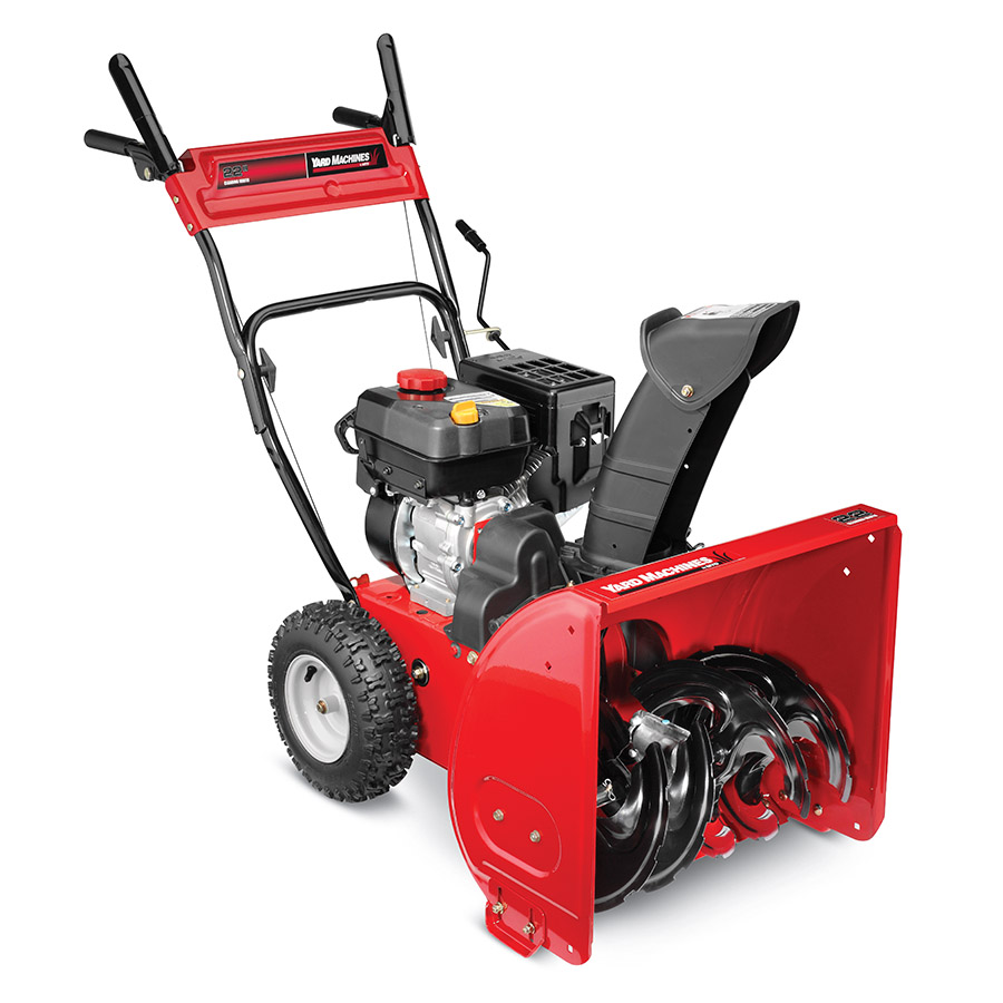 "Yard Machines 22"" 208cc Two-Stage Snow Blower with Electric Start"