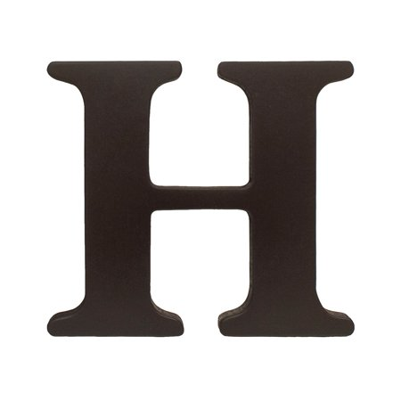 Espresso 8 Inch Tall Wooden Letter H Wall Hanging Letters Are Inches And Five Eighths Thick Width Varies By But Allow