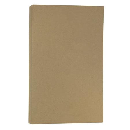JAM Paper Recycled Legal Cardstock, 8.5 x 14, 60 lb Brown Kraft Paper Bag, 50 Sheets/Pack (Brown Cardstock Paper)