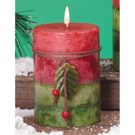 Pack of 6 Holiday Naturals Frosted Mulberry Scented Pillar ...