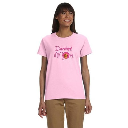 Carolines Treasures SS4763PK-978-S Pink Red Smooth Dachshund Mom T-Shirt Ladies Cut Short Sleeve, Small - image 1 of 1