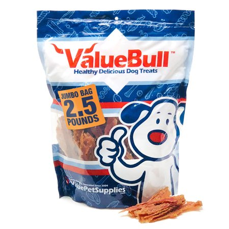 ValueBull Duck Breast Jerky Fillets for Dogs, 2.5 Pound