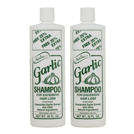 Nutrine Garlic Shampoo - Unscented 16oz (Pack of 2)