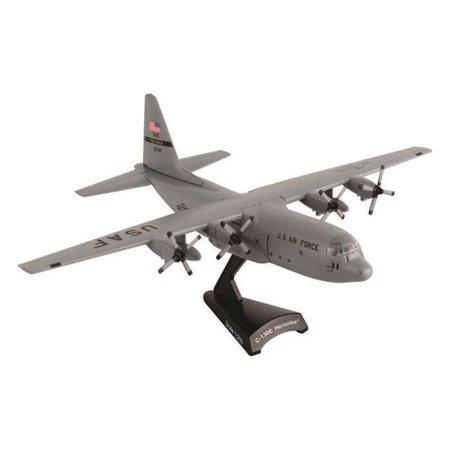 Diecast Metal Historical Airplane with Stand - USAF C-130 Spare 617 1/200 Plane