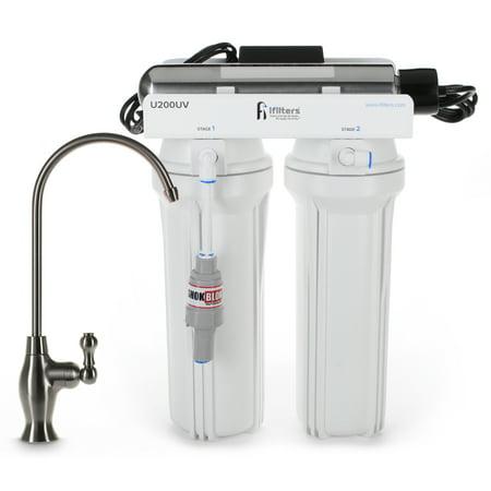 Ultraviolet Water Treatment System - U200UV Ultraviolet UV Drinking Water Filtration Purifier System 3 Stage Ultimate Filter & Sterilize - Built in USA