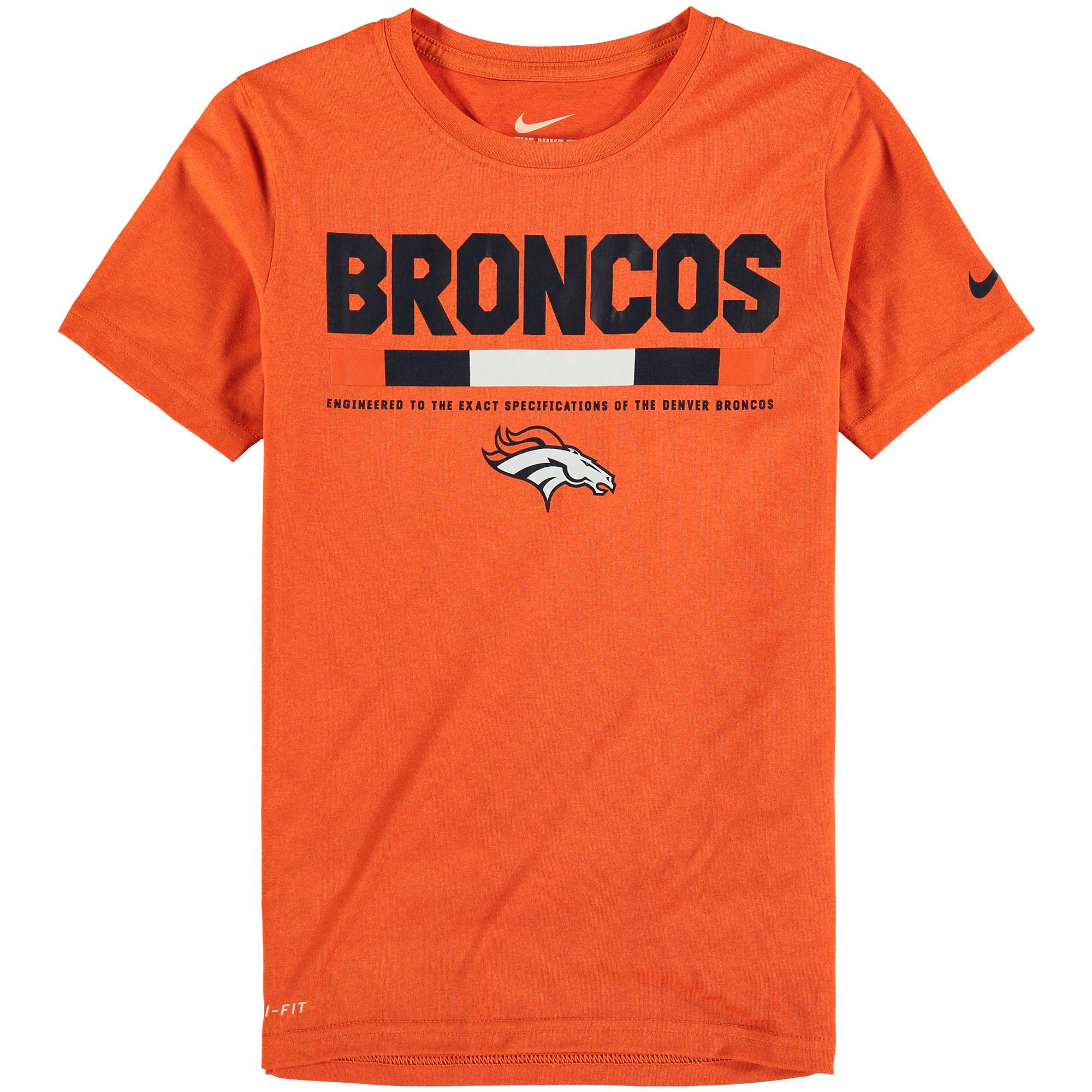 Denver Broncos Nike Youth Legend Staff Performance T-Shirt - Orange