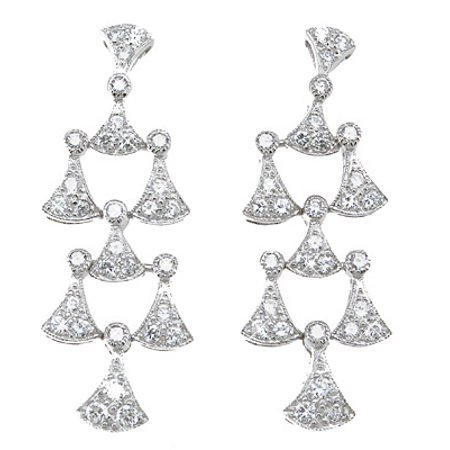 925 Sterling Silver Chandelier Earrings Makes Unique Happy Anniversary Gifts, Antique Style Sterling Silver Earrings