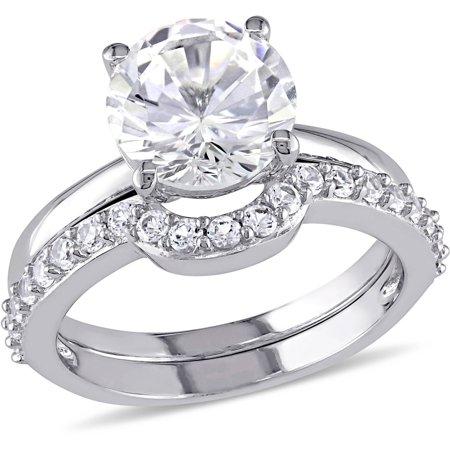 Miabella 2-4/5 Carat T.G.W. Created White Sapphire 10kt White Gold Bridal Set