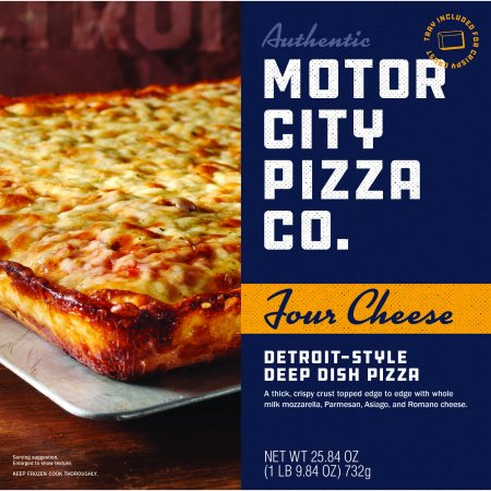 Motor City Four Cheese Detroit Style Deep Dish Pizza, 25.84 oz (Frozen)