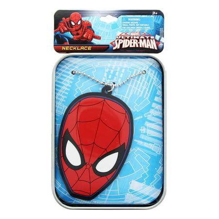 Marvel Spider-Man Printed Tin Case w/ Rubber Charm Bracelet (Cause Bracelets)