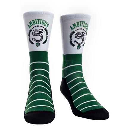 Green Striped Socks (Rock Em Elite Wizard Stripes Green Slytherin Crew)