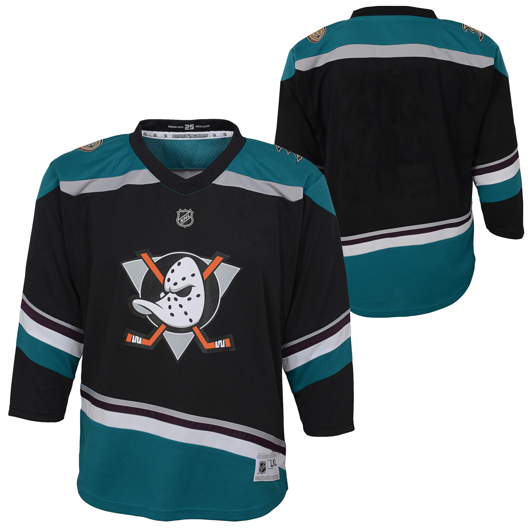 170442609 ... france anaheim ducks infant alternate replica jersey black 18 mo 296c6  0e844