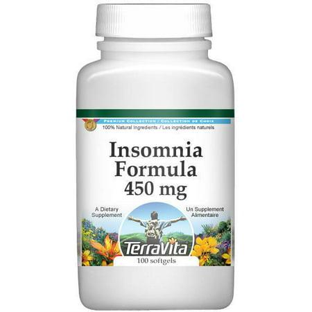 Formule Insomnie - Passiflore, valériane et mélisse - 450 mg (100 capsules, ZIN: 512080)