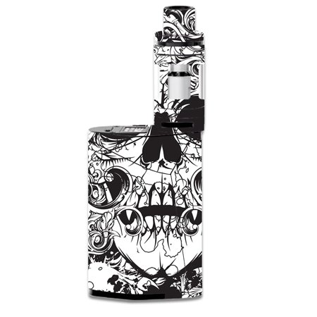 Skin Decal For Smok Gx350 Kit Vape Mod / Crazy Lineart Skull