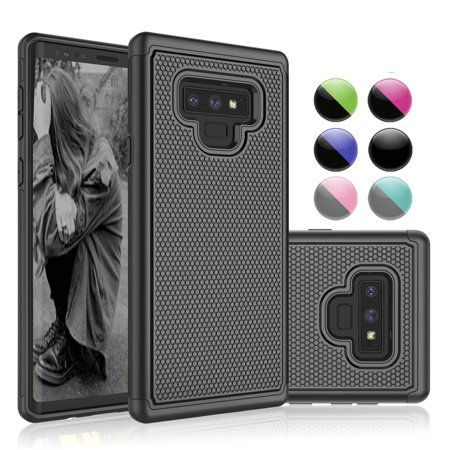 new concept 7672d b1aaa Galaxy Note 9 Case, Samsung Note 9 Case, Case For Galaxy Note 9, Njjex  Shock Absorbing Dual Layer Silicone & Plastic Scratch Resistant Bumper  Rugged ...