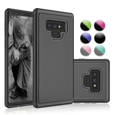 new concept e5e07 33dee Galaxy Note 9 Case, Samsung Note 9 Case, Case For Galaxy Note 9, Njjex  Shock Absorbing Dual Layer Silicone & Plastic Scratch Resistant Bumper  Rugged ...