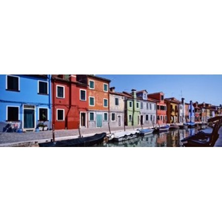 Houses At The Waterfront Burano Venetian Lagoon Venice Italy Poster Print