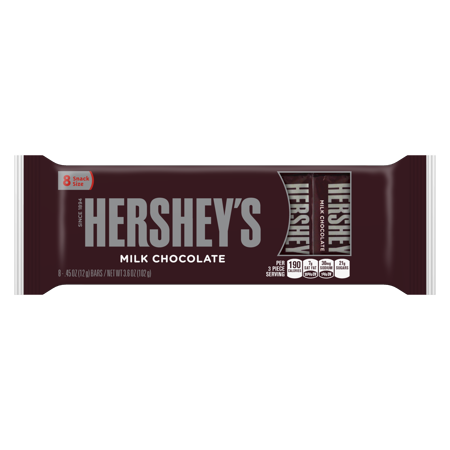Hershey S Milk Chocolate Snack Size Candy Bars 3 6 Oz