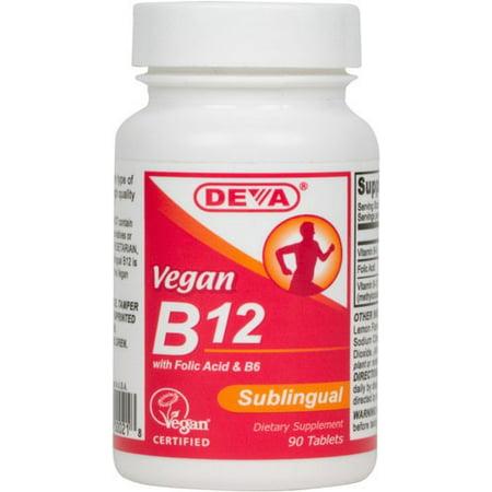 Deva Nutrition Deva B12, 90 ea
