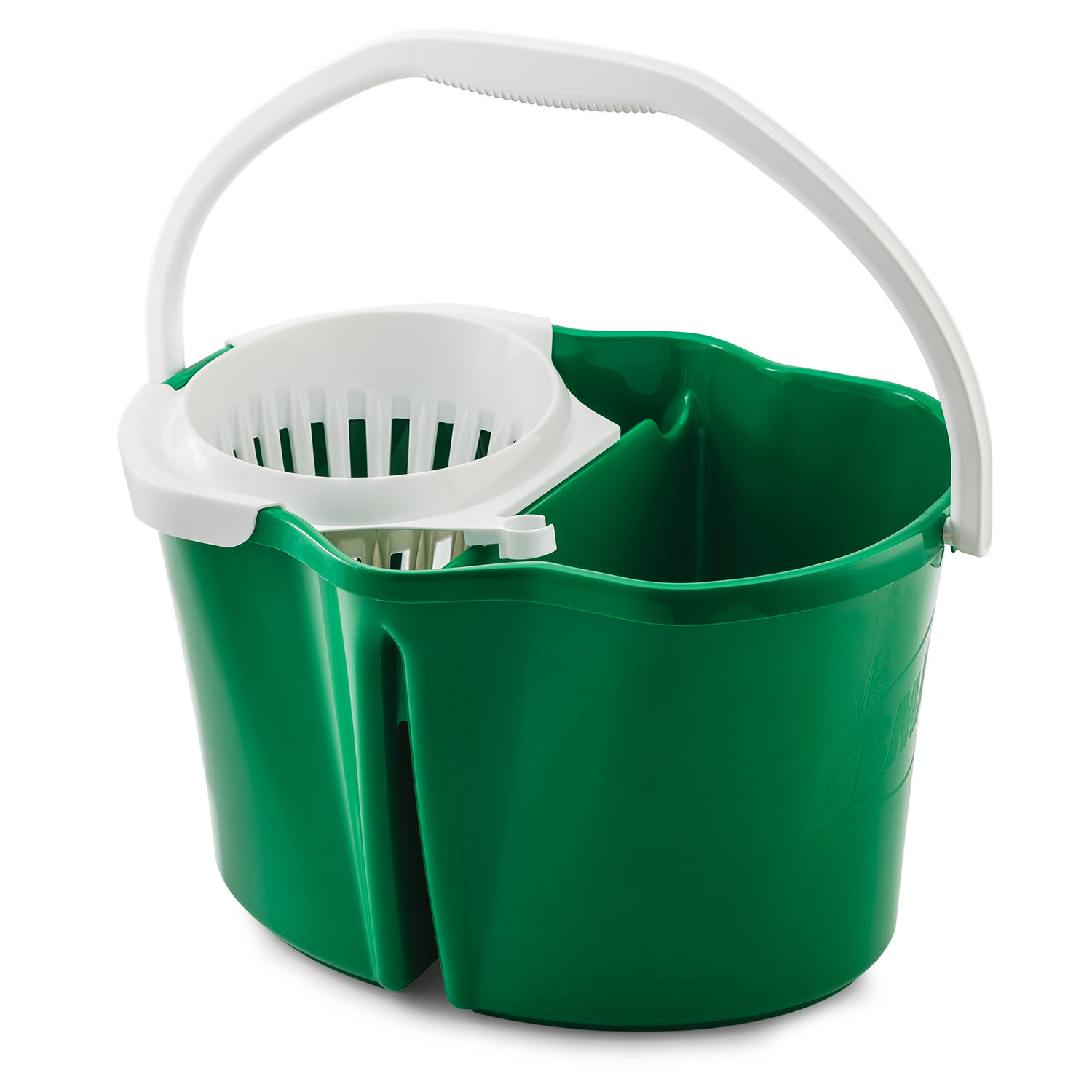 Libman Polypropylene Mop Bucket with Wringer, Green & White