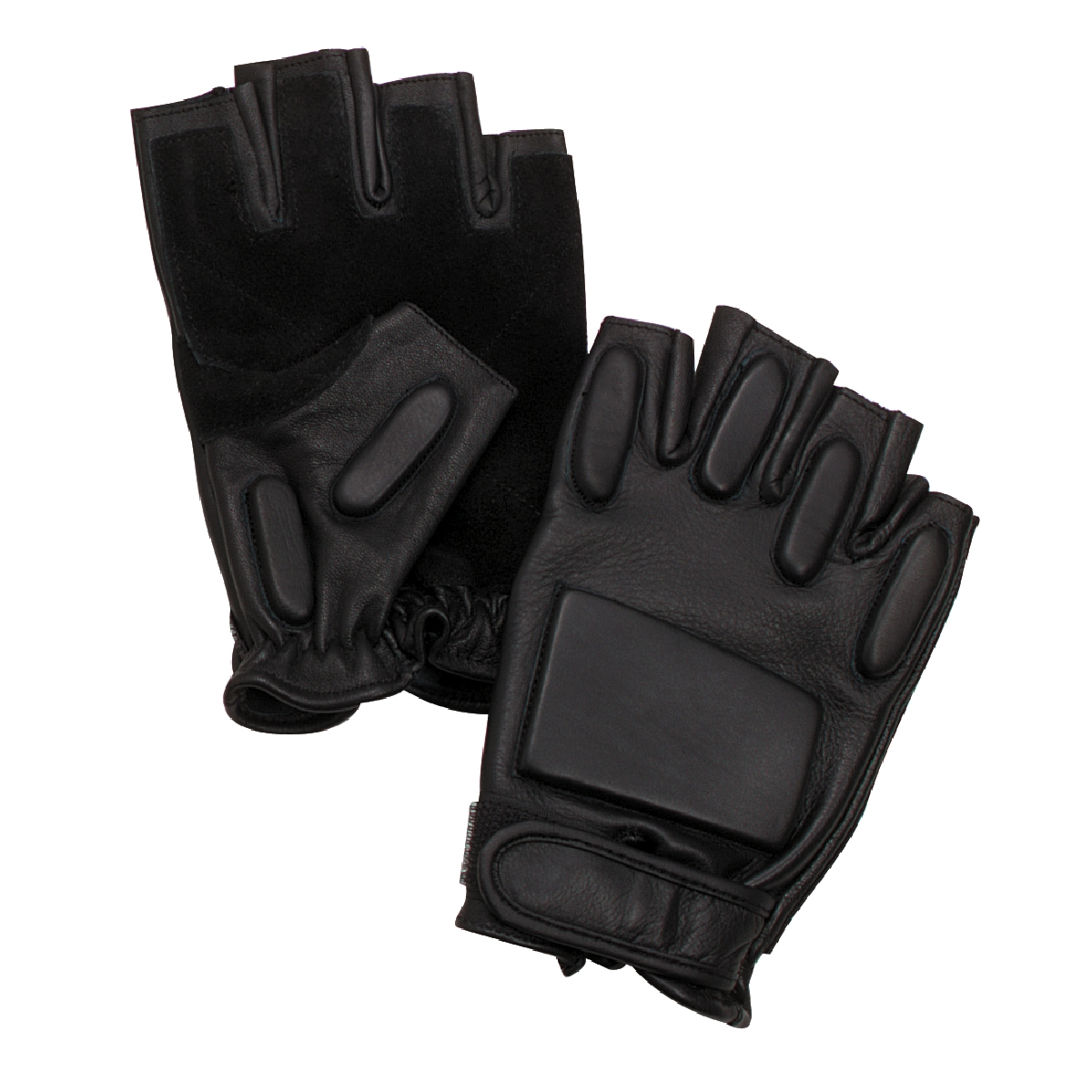 Black Fingerless Tactical Rappelling Gloves