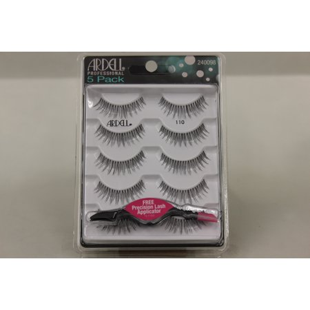 Ardell Professional Eye Lashes- 5 Pack - 110 (5 pairs) w/ Free Precision  Lash Applicator