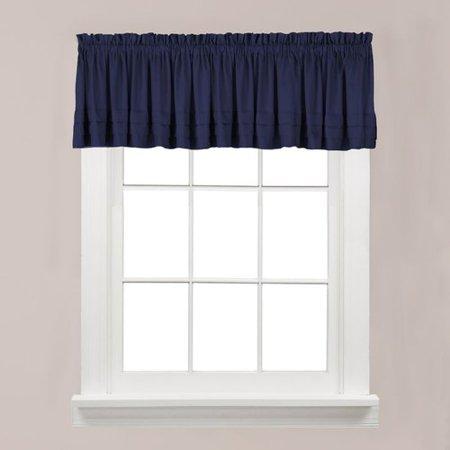 holden solid navy blue kitchen curtain