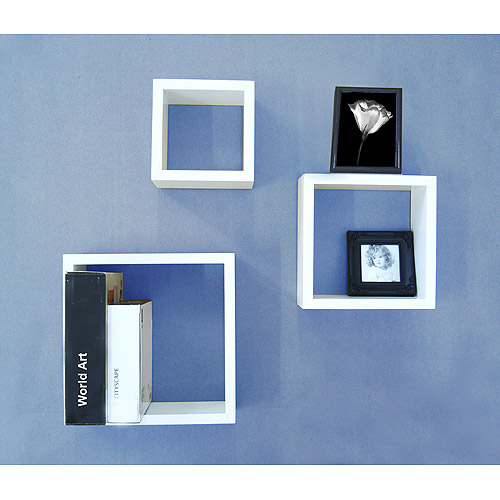 White Wall Cubes, Set of 3