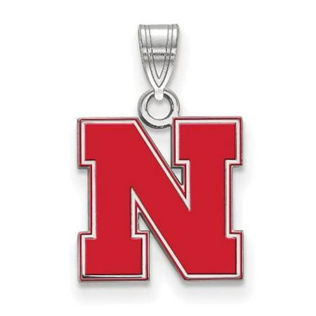 LogoArt SS091UNE Sterling Silver University of Nebraska Small Enamel Pendant - image 2 de 2