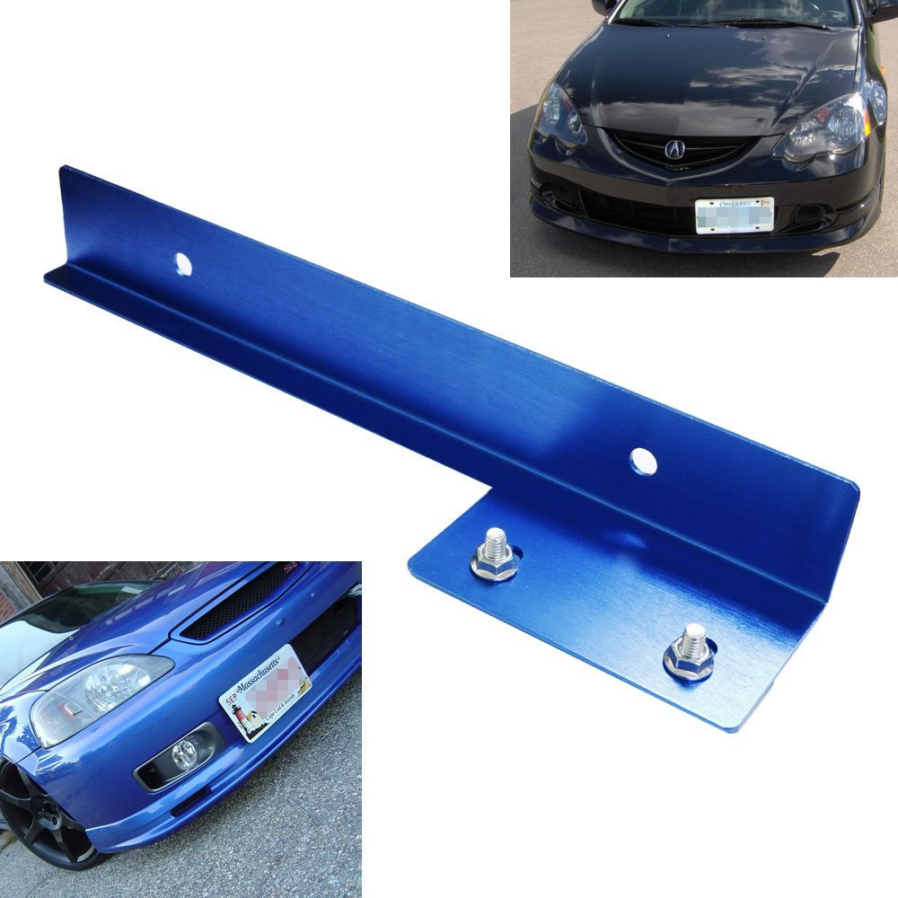 Ijdmtoy Blue Front Bumper License Plate Relocator Bracket