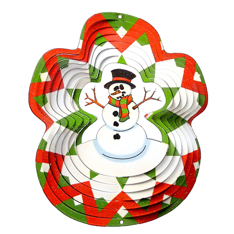 Iron Stop Designer Snowman Wind Spinner by