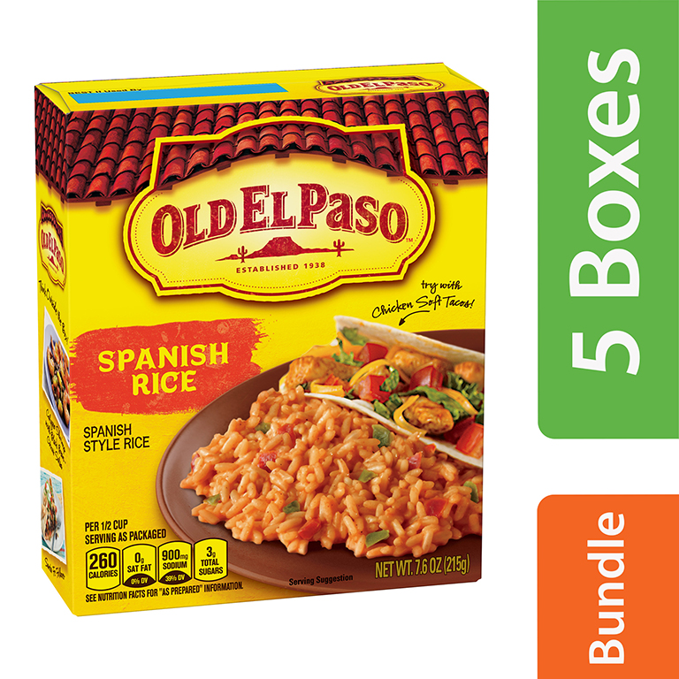 Old El Paso Spanish Rice Sides, 7.6 oz (5 Packs)