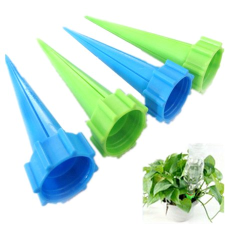 Plastic Drip - 4-Piece/Set Garden Cone Watering Spikes Drip Controller Plastic Flower Plant Waterers Bottle Automatic Irrigation System for Kitchen Indoor Outdoor Plants