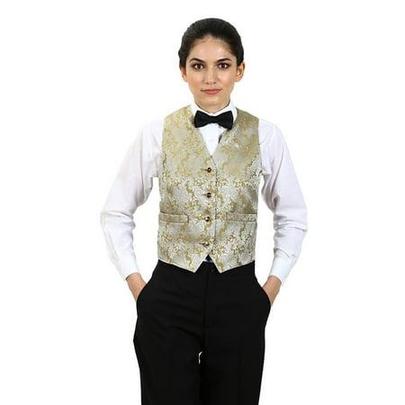 Women's Paisley Pattern Jacquard Vest (Green Joker Vest)