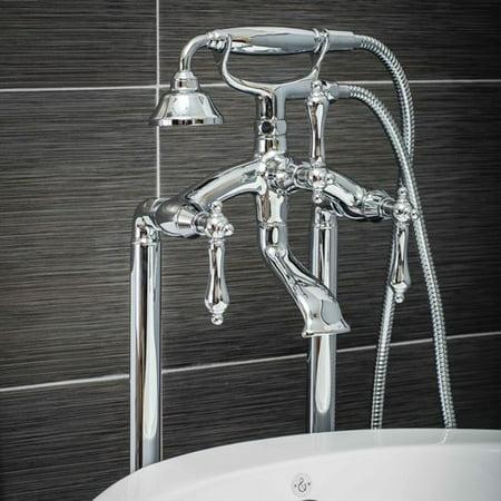Pelham White Luxury Clawfoot Tub Or Freestanding Tub Filler Faucet