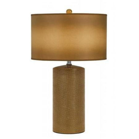 Cal Lighting BO-2632TB-2 150 Watts Ceramic Table Lamp, Brown - image 1 de 1