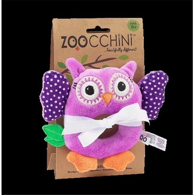 Zoocchini 41003 Baby Buddy Rattles with Owl, Purple, 4 x 6 inch