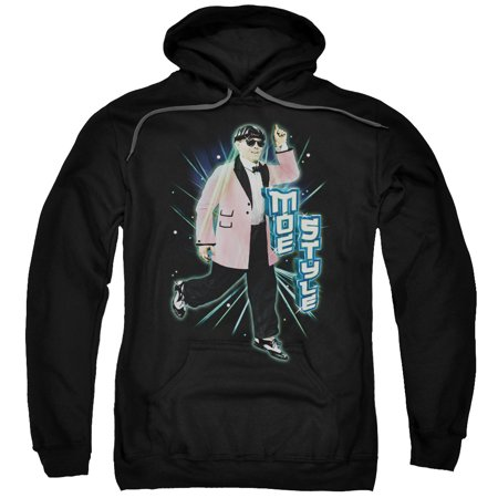Three Stooges Slapstick Famous Comedy Group Moe Style Adult Pull Over Hoodie