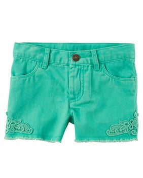 Carter's Baby Girls' Lace Twill Shorts, 24 Months