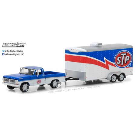 1970 Ford F-series Trucks (Greenlight 1:64 Hitch & Tow 12 1970 Ford F-100 STP and STP Racing Trailer)