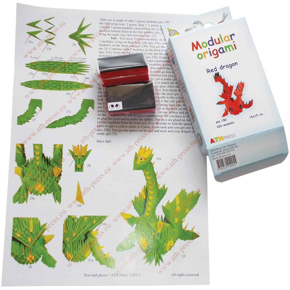 Modular Origami Kit-Red Dragon - image 1 de 1