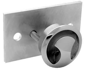 "Attwood Stainless Steel Flush Mount Ski Tow, 2-1 2"" x 5"" by Attwood Corporation"