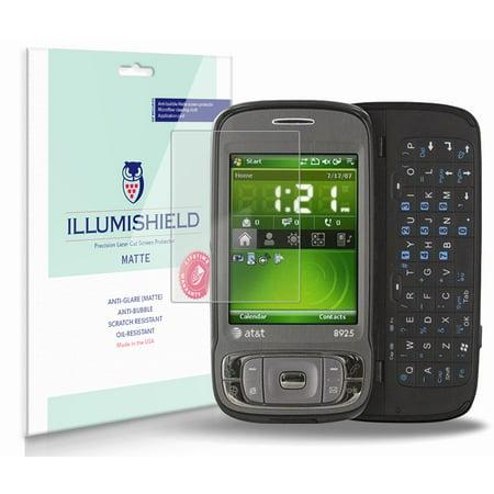 iLLumiShield Matte Screen Protector w Anti-Glare/Print 3x for HTC Tilt 8925