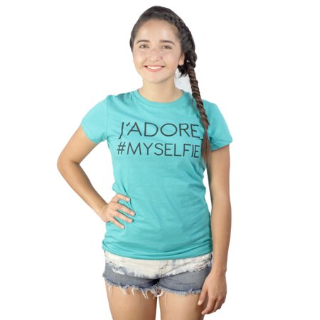Devine 79 Jadore  Myselfie Juniors Teal T Shirt New Sizes L Xl