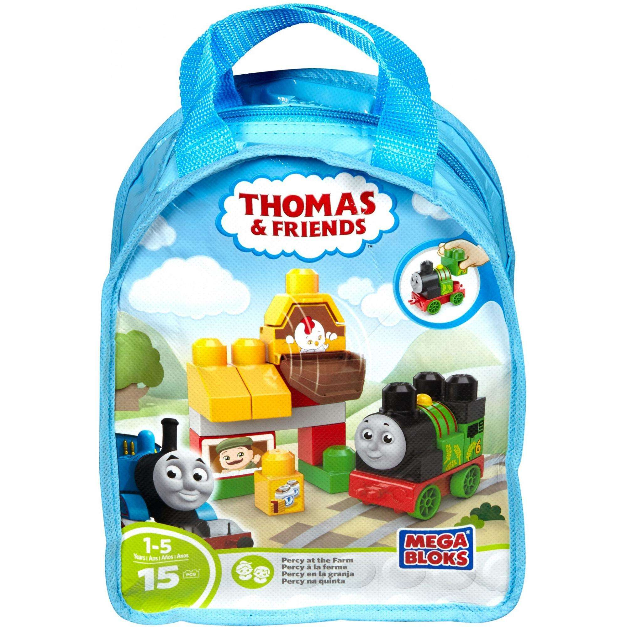 Mega Bloks Thomas & Friends Percy at the Farm Building Bag