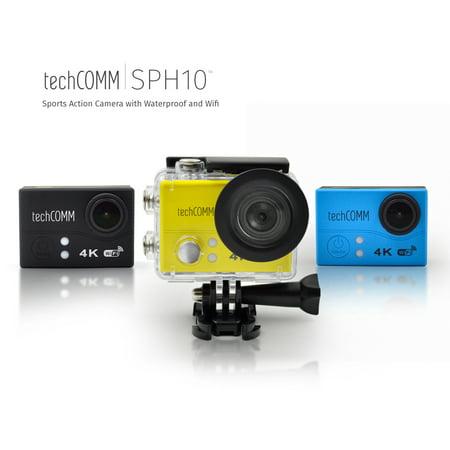 TechComm SPH10 Waterproof 4K 16MP Action Camera Sony IMX214 Sensor (Waterproof Camera Sony)